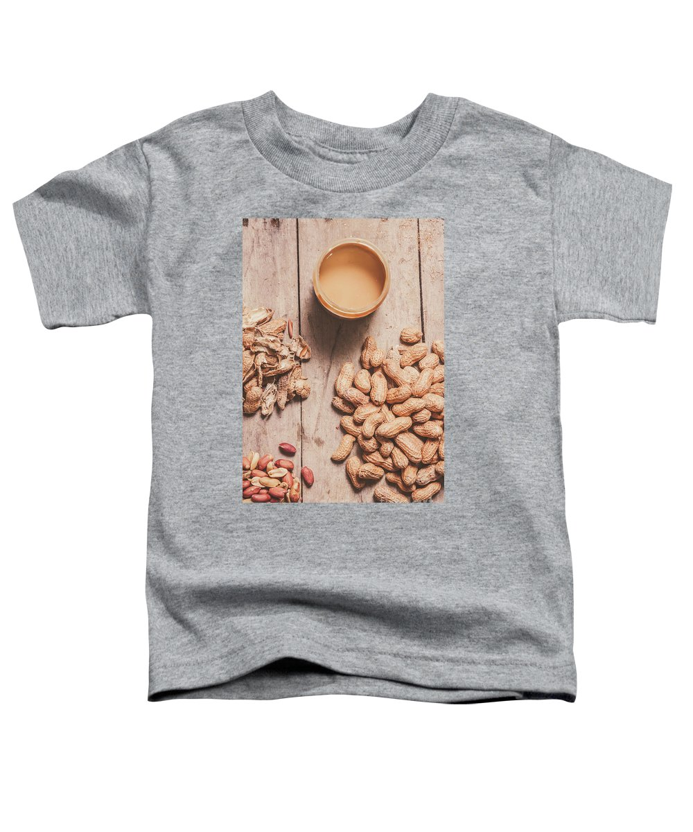 Peanut Toddler T-Shirt featuring the photograph Making Peanut Butter by Jorgo Photography - Wall Art Gallery
