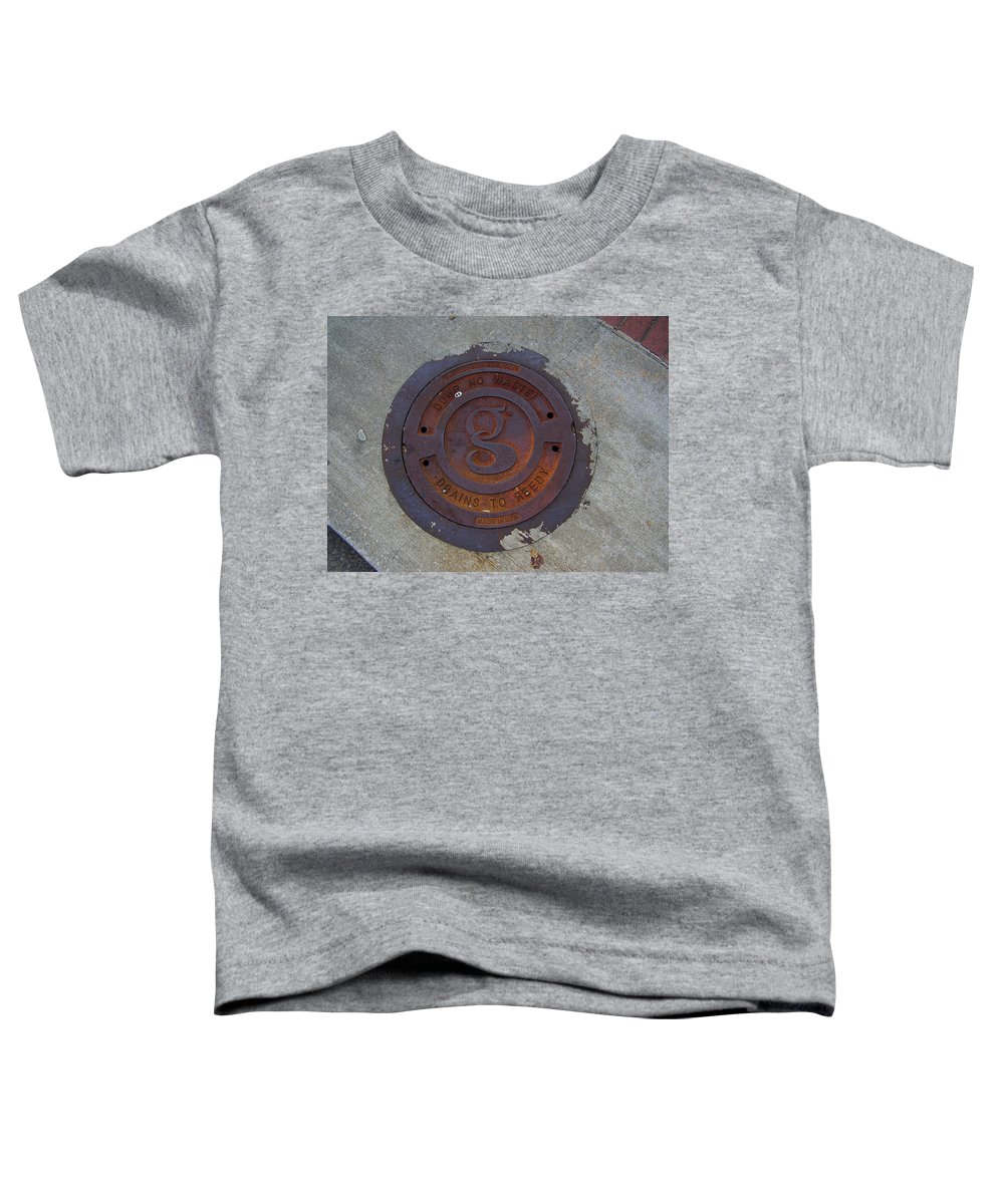 Manhole Toddler T-Shirt featuring the photograph Manhole IIi by Flavia Westerwelle