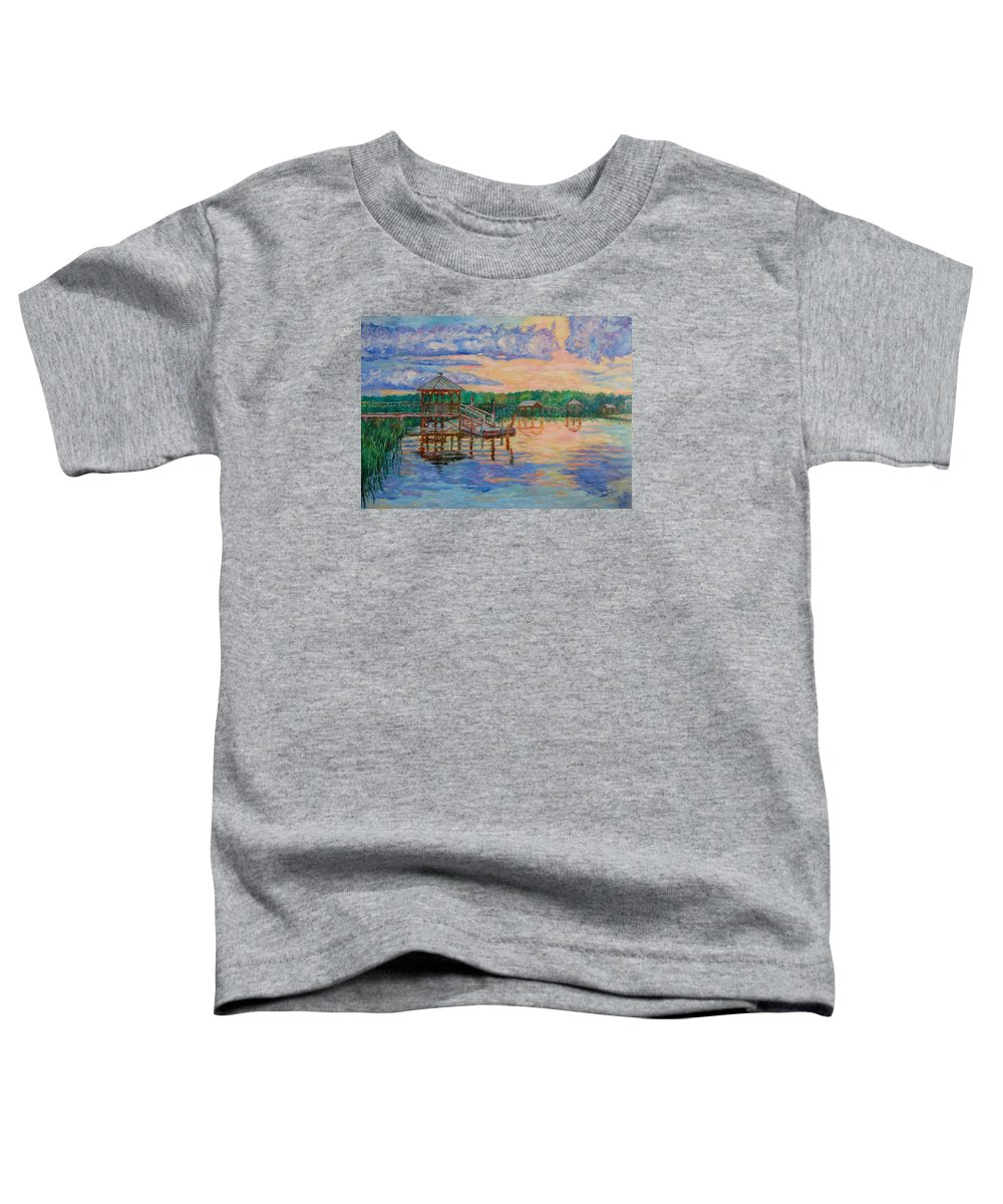 Landscape Toddler T-Shirt featuring the painting Marsh View At Pawleys Island by Kendall Kessler