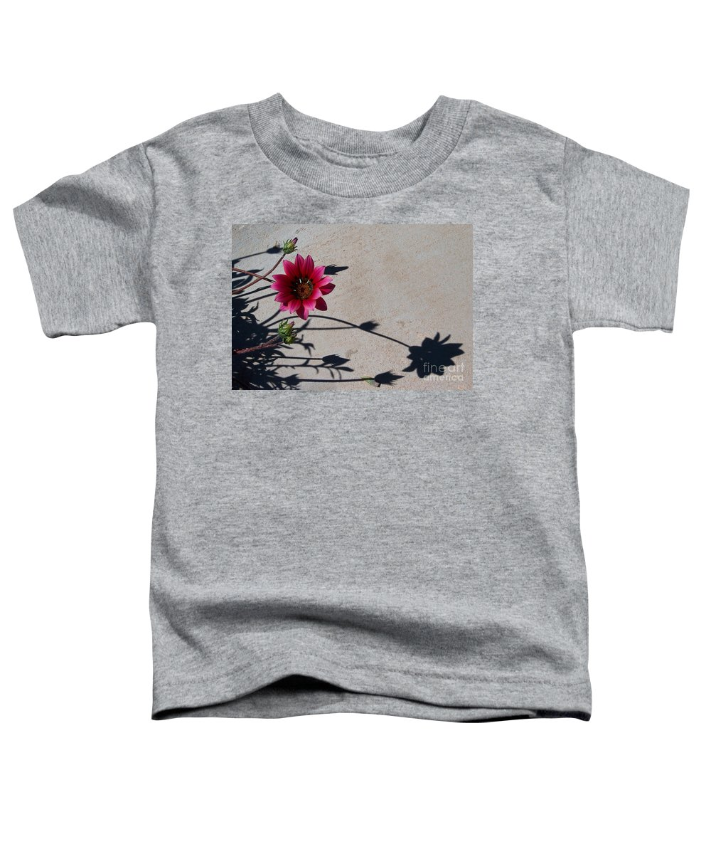 Flowers Toddler T-Shirt featuring the photograph Me And My Shadow by Kathy McClure