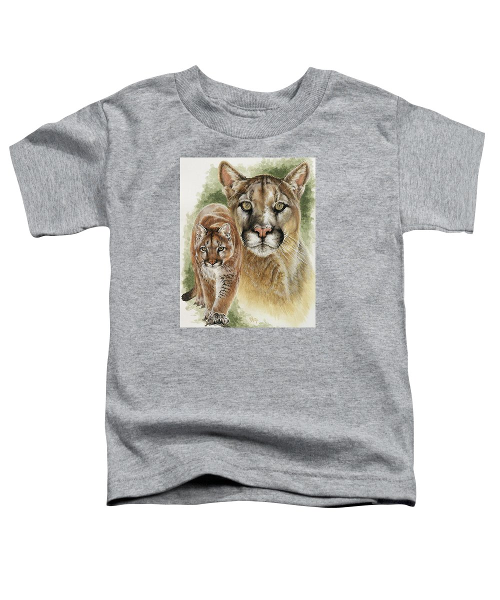 Cougar Toddler T-Shirt featuring the mixed media Mighty by Barbara Keith
