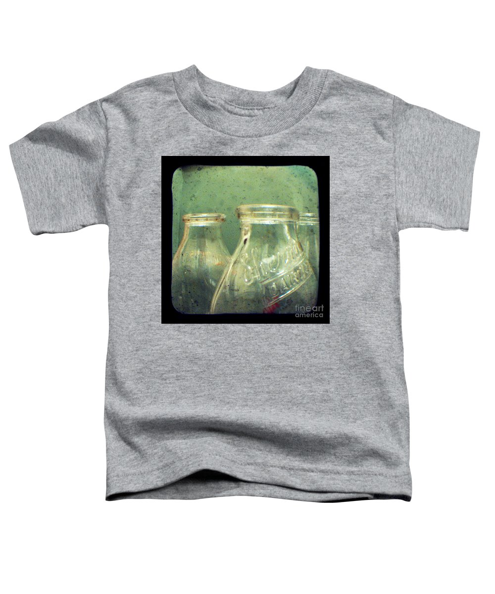 Ttv Toddler T-Shirt featuring the photograph Milk Bottles by Dana DiPasquale