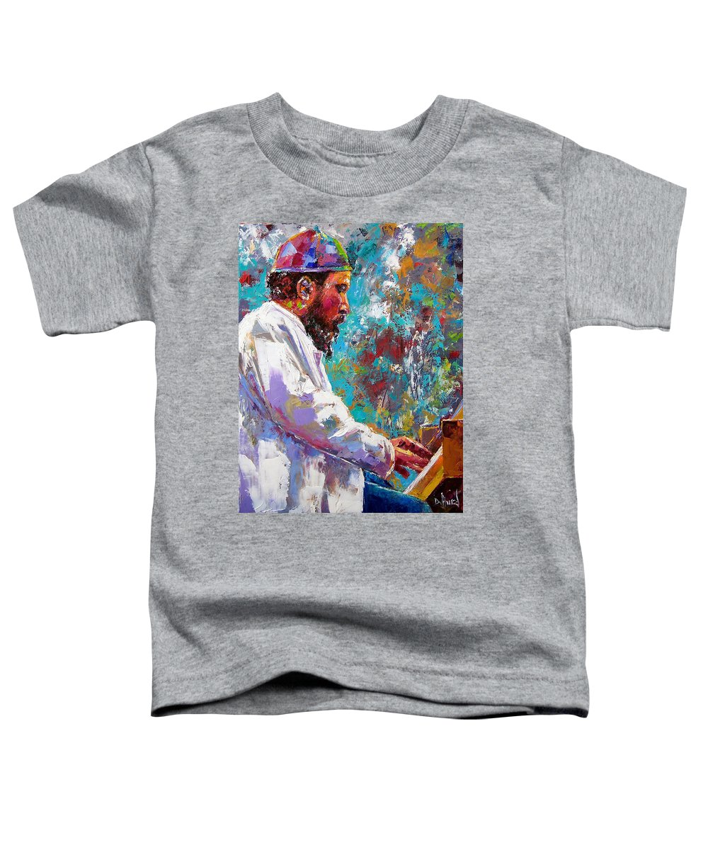 Thelonious Monk Art Toddler T-Shirt featuring the painting Monk Live by Debra Hurd