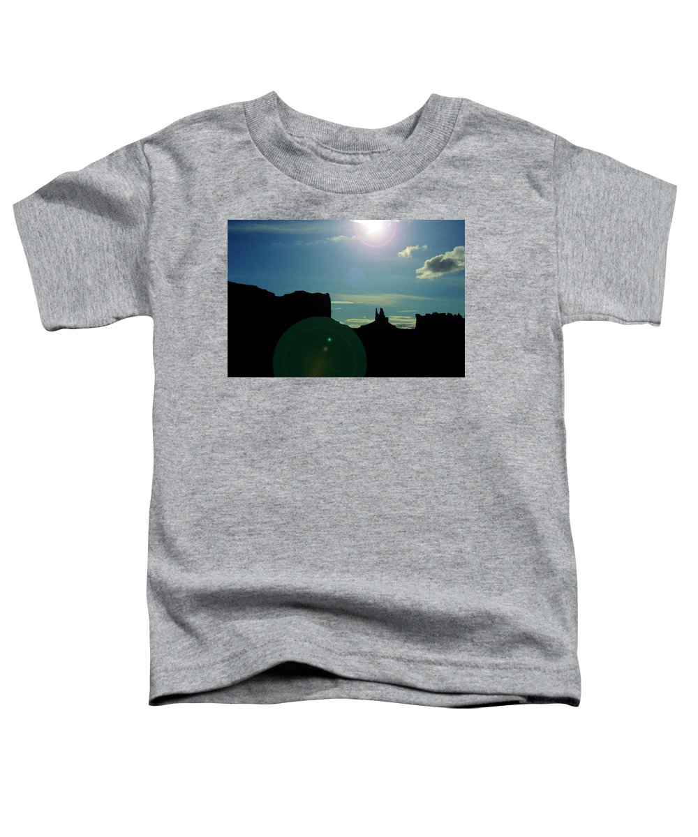 Monument Valley Toddler T-Shirt featuring the photograph Monument Valley silhouette by Roy Nierdieck