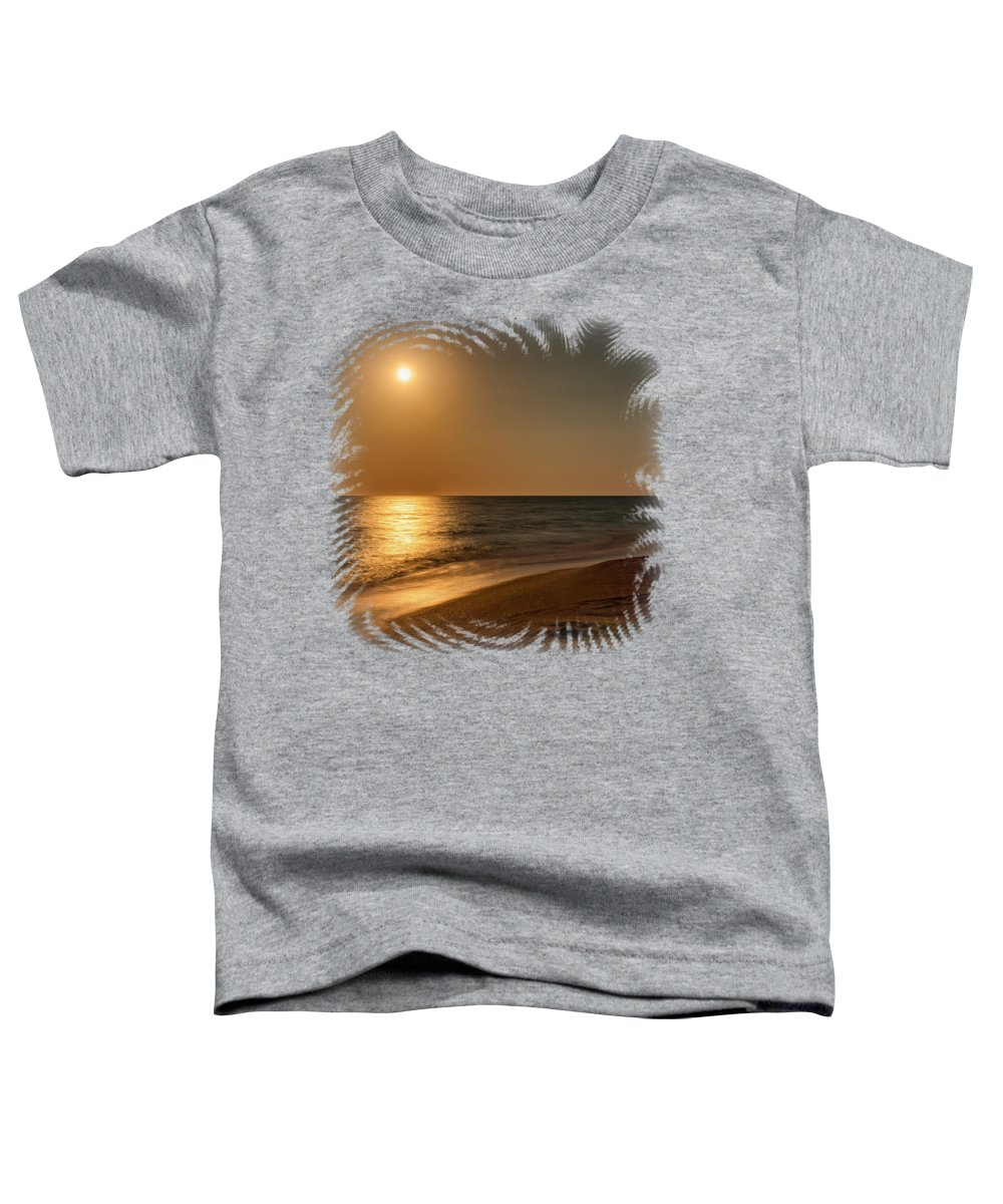 Beach Toddler T-Shirt featuring the photograph Moonscape 3 by John M Bailey