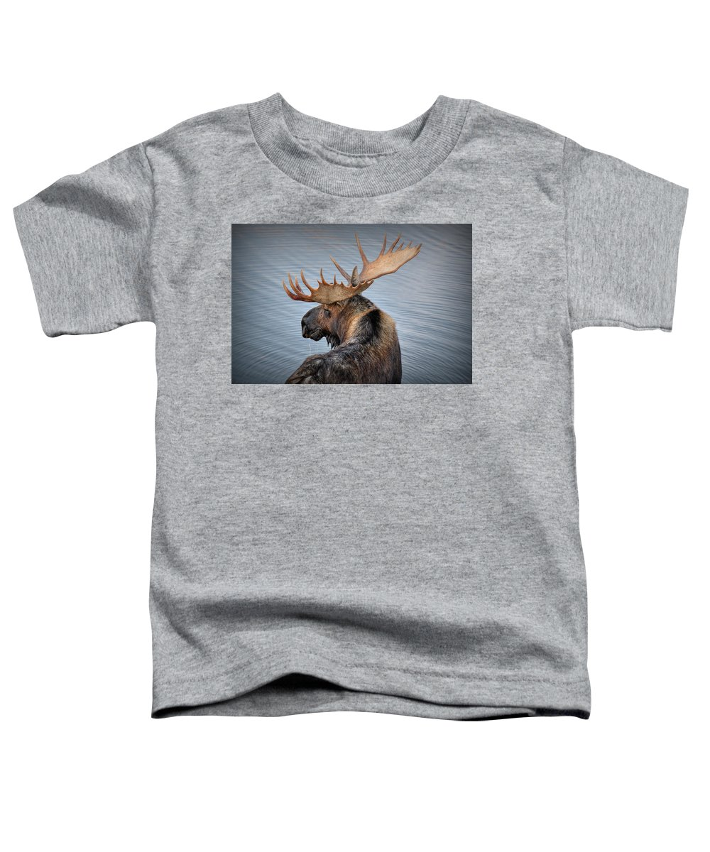 Moose Toddler T-Shirt featuring the photograph Moose Drool by Ryan Smith