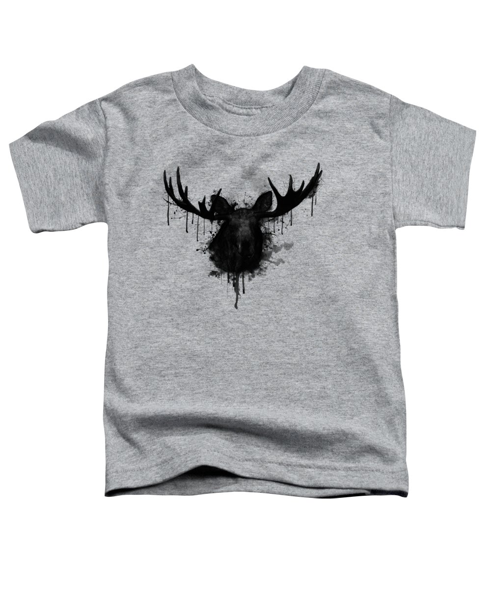 Moose Toddler T-Shirt featuring the digital art Moose by Nicklas Gustafsson