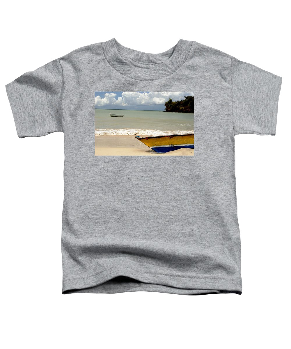 Boat Toddler T-Shirt featuring the photograph Morne Rouge Boats by Jean Macaluso