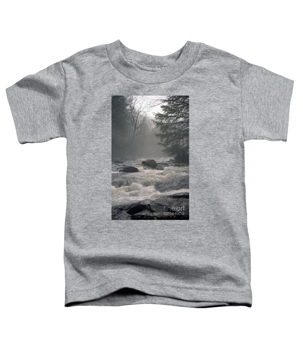 Rivers Toddler T-Shirt featuring the photograph Morning At The River by Richard Rizzo