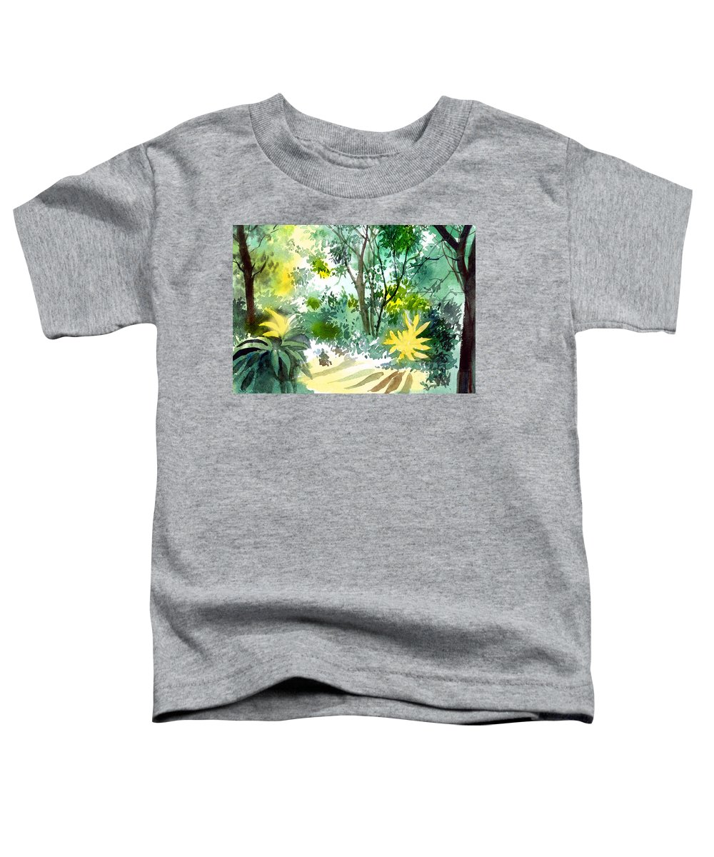 Landscape Toddler T-Shirt featuring the painting Morning Glory by Anil Nene
