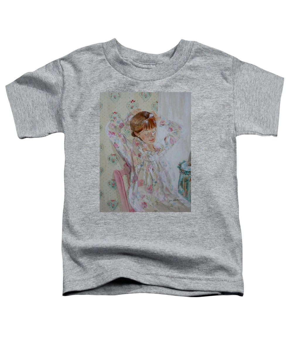 Morning Toddler T-Shirt featuring the painting Morning Ritual by Jean Blackmer