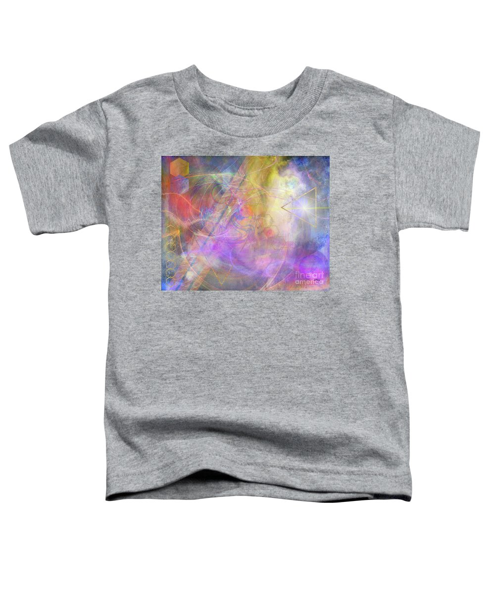 Morning Star Toddler T-Shirt featuring the digital art Morning Star by John Beck
