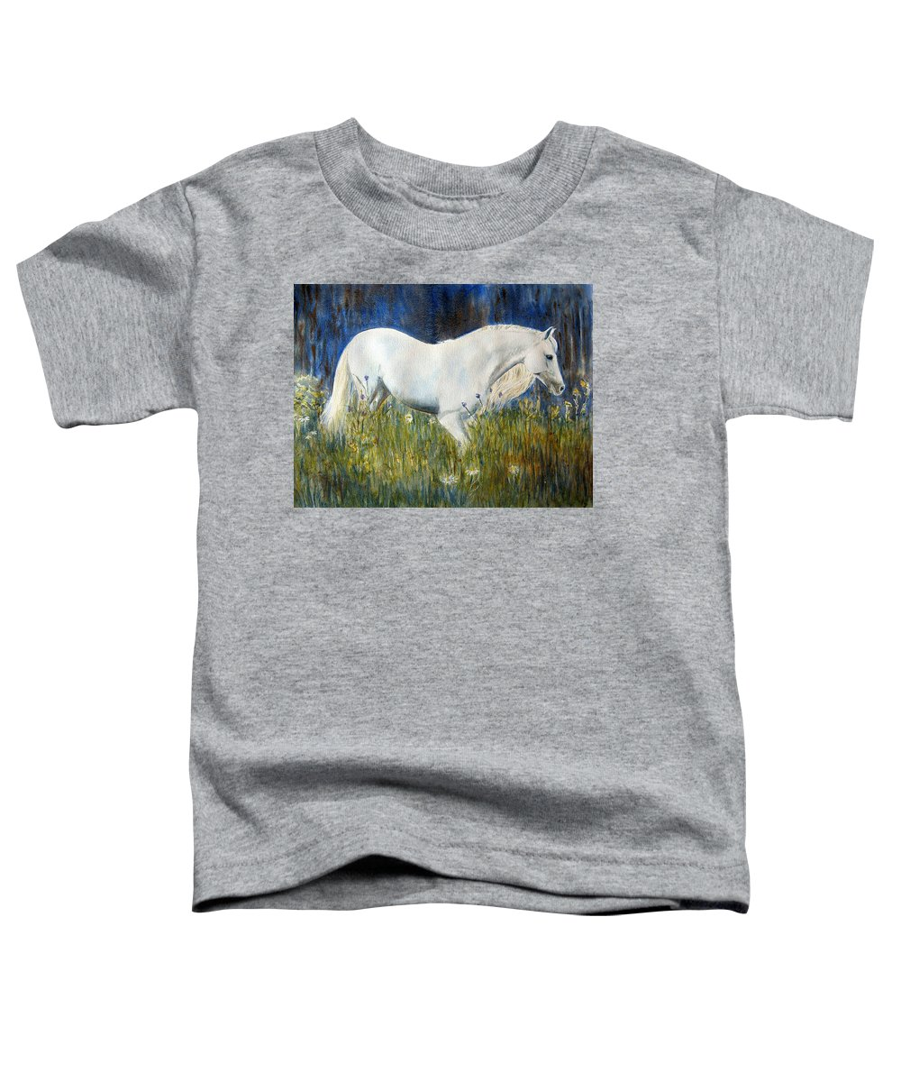 Horse Painting Toddler T-Shirt featuring the painting Morning Walk by Frances Gillotti