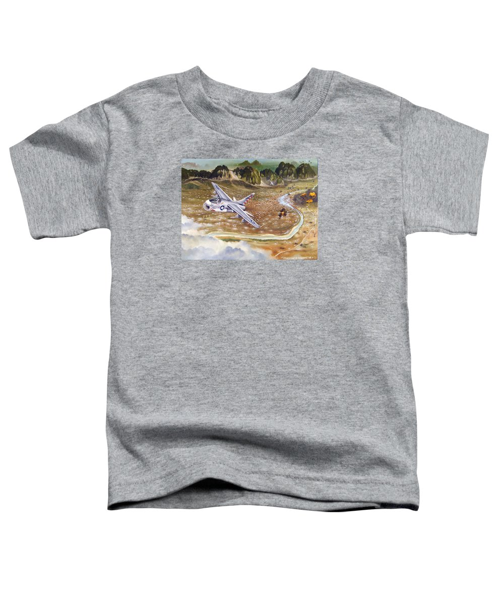 Aviation Toddler T-Shirt featuring the painting Mu Gia Mayhem by Marc Stewart