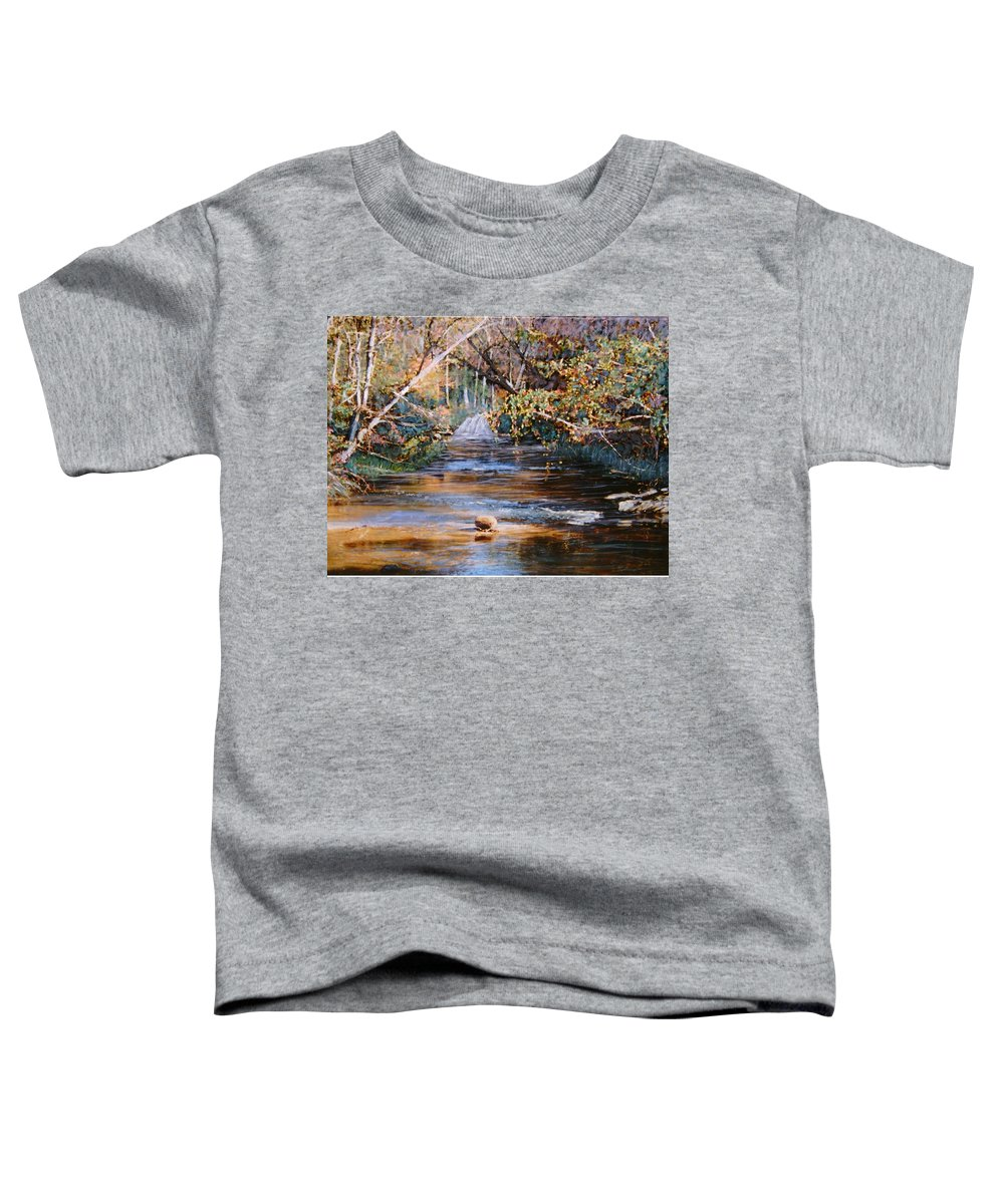 Peace Project Toddler T-Shirt featuring the painting My Secret Place by Ben Kiger