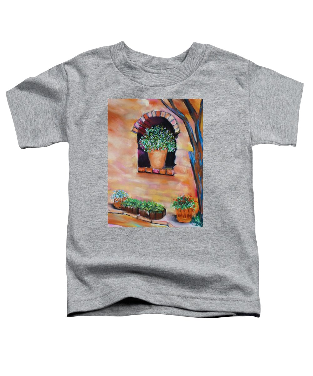 Courtyard Toddler T-Shirt featuring the painting Nash's Courtyard by Melinda Etzold