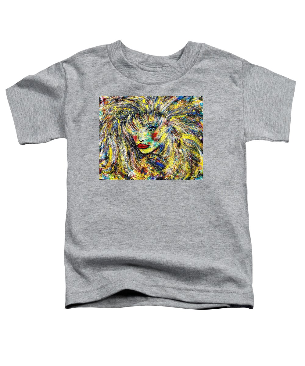 Portrait Toddler T-Shirt featuring the painting Natalya by Natalie Holland