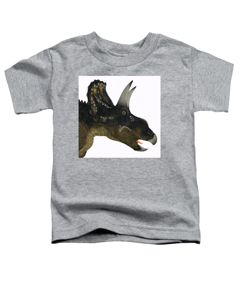Diceratops Paintings Toddler T-Shirts