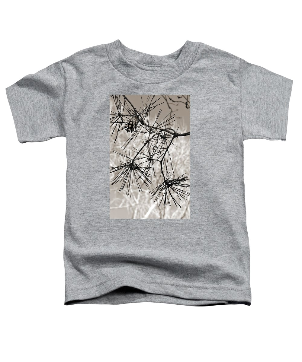 Tree Toddler T-Shirt featuring the photograph Needles Everywhere by Marilyn Hunt