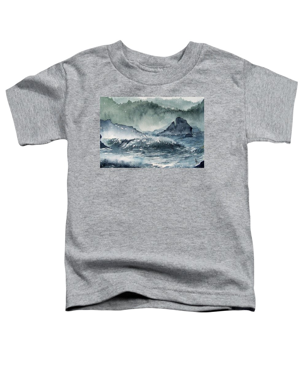 Ocean Toddler T-Shirt featuring the painting Northern California Coast by Gale Cochran-Smith