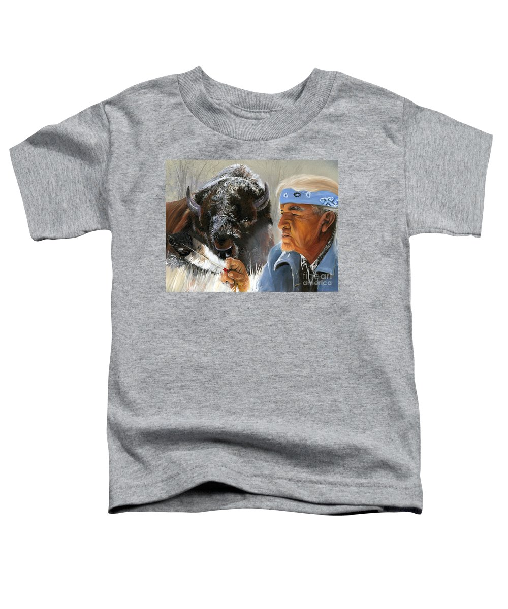 Southwest Art Toddler T-Shirt featuring the painting Nothing Is Ever Forgotten by J W Baker