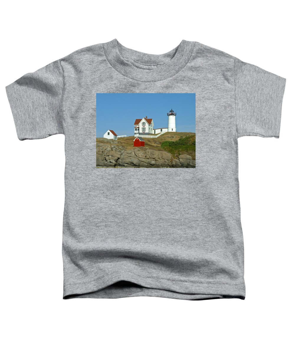 Nubble Toddler T-Shirt featuring the photograph Nubble Light by Margie Wildblood
