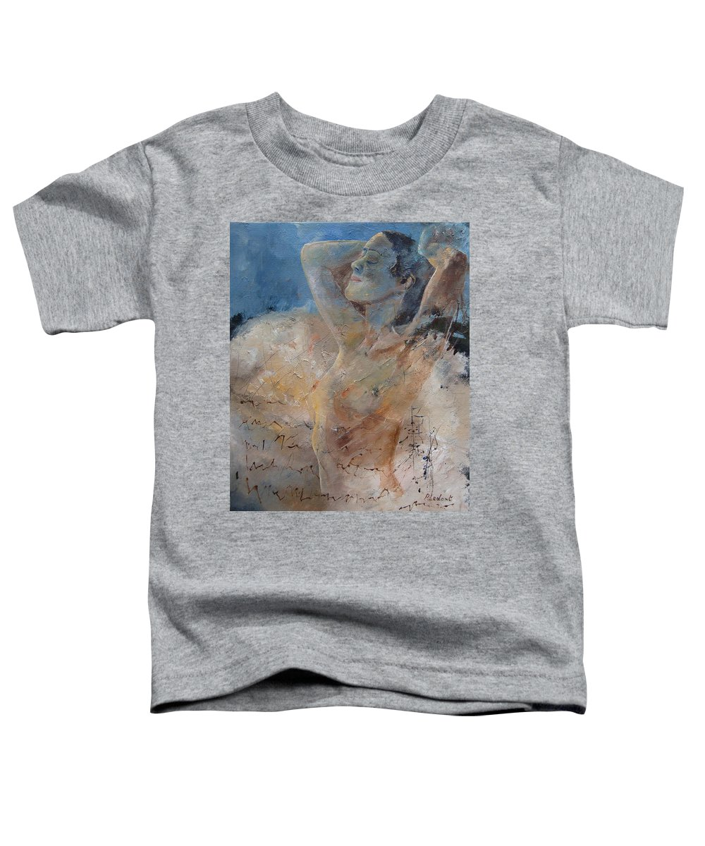Nude Toddler T-Shirt featuring the painting Nude 0508 by Pol Ledent