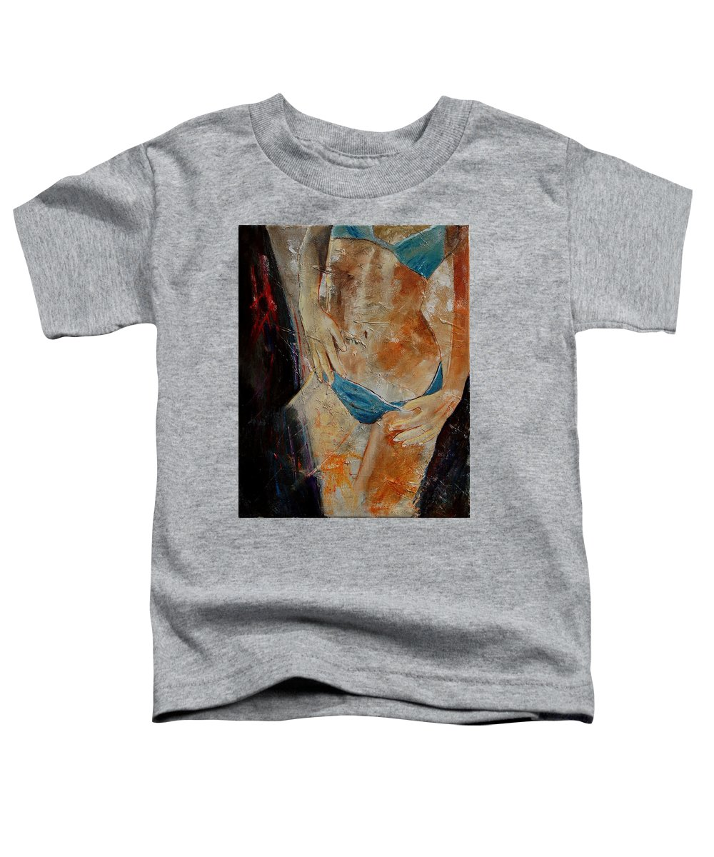 Girl Nude Toddler T-Shirt featuring the painting Nude 450608 by Pol Ledent