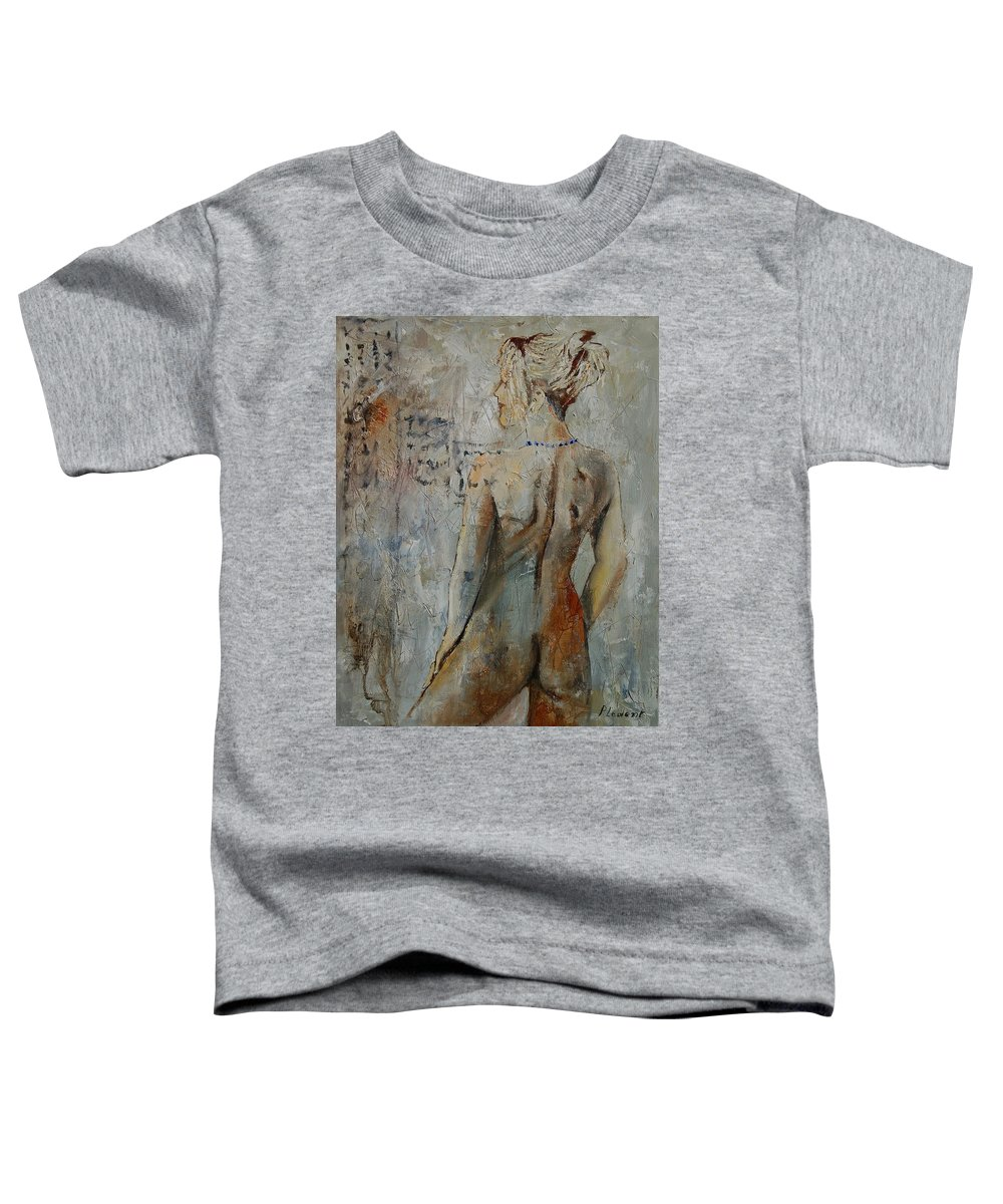 Girl Toddler T-Shirt featuring the painting Nude 459020 by Pol Ledent
