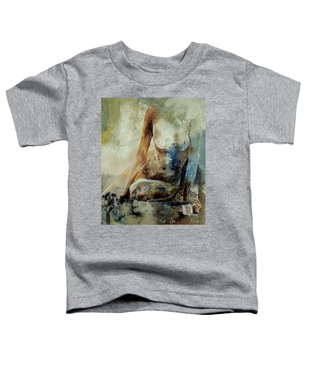 Nude Toddler T-Shirt featuring the painting Nude 560408 by Pol Ledent