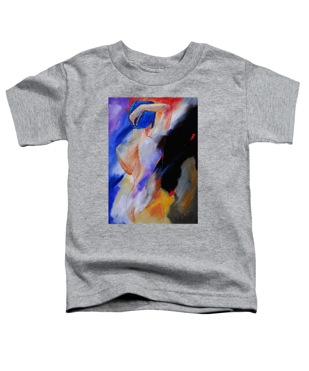 Nude Toddler T-Shirt featuring the painting Nude 579020 by Pol Ledent