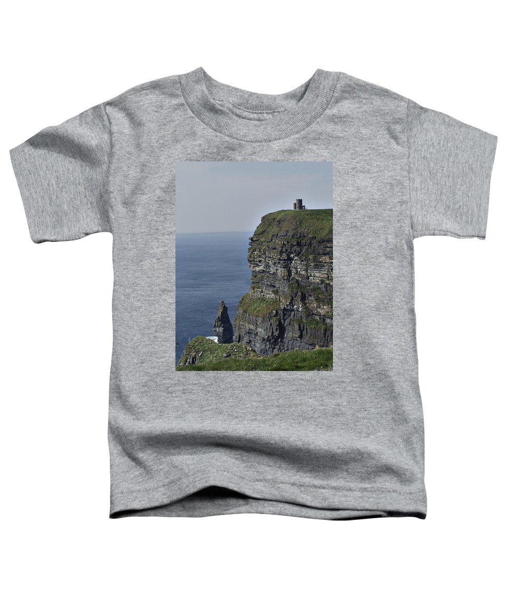Irish Toddler T-Shirt featuring the photograph O Brien's Tower At The Cliffs Of Moher Ireland by Teresa Mucha