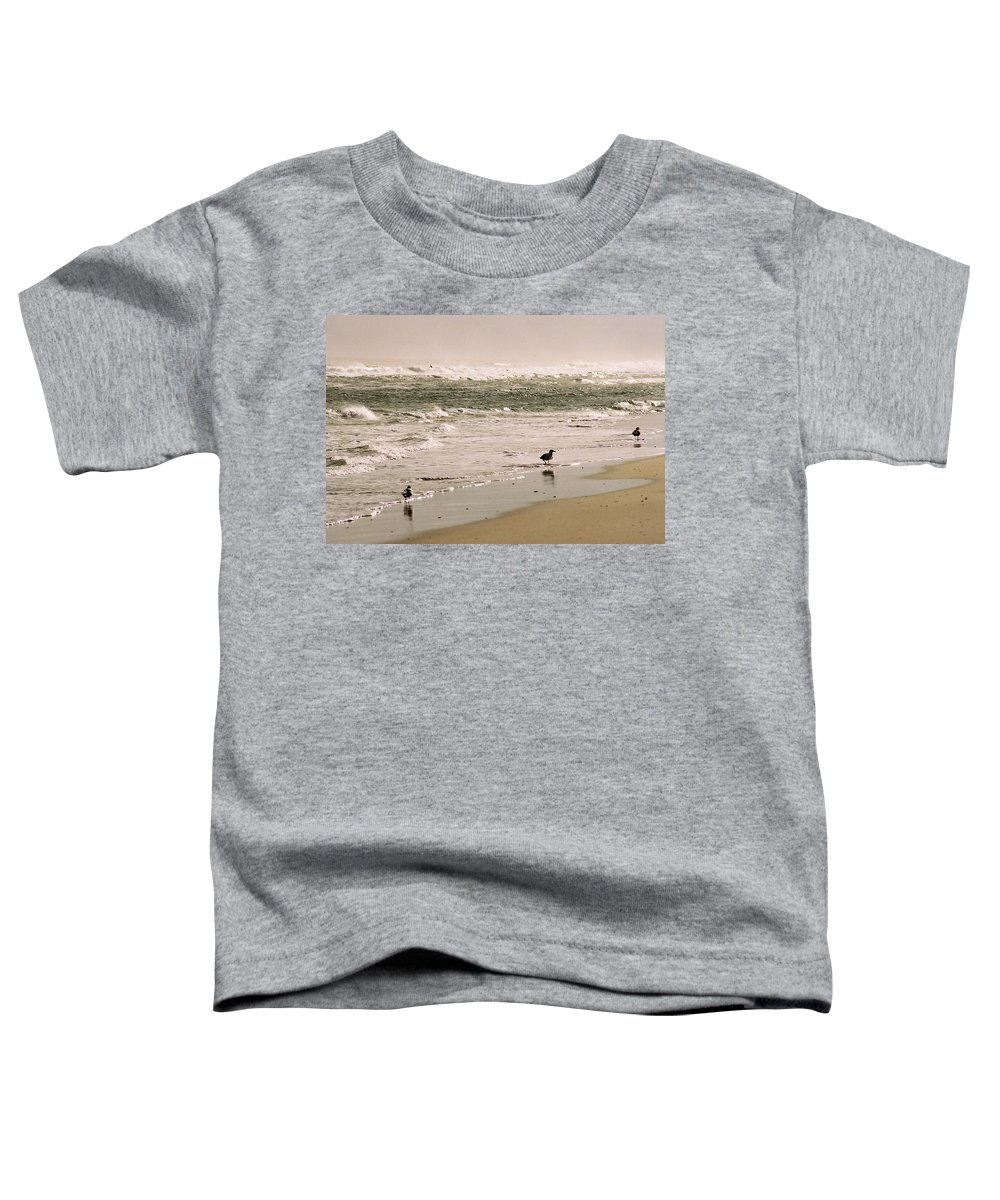 Seascape Toddler T-Shirt featuring the photograph Ocean Edge by Steve Karol