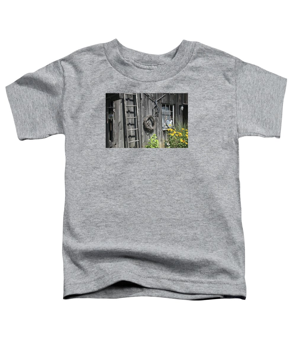 Barn Toddler T-Shirt featuring the photograph Old Barn II by Margie Wildblood