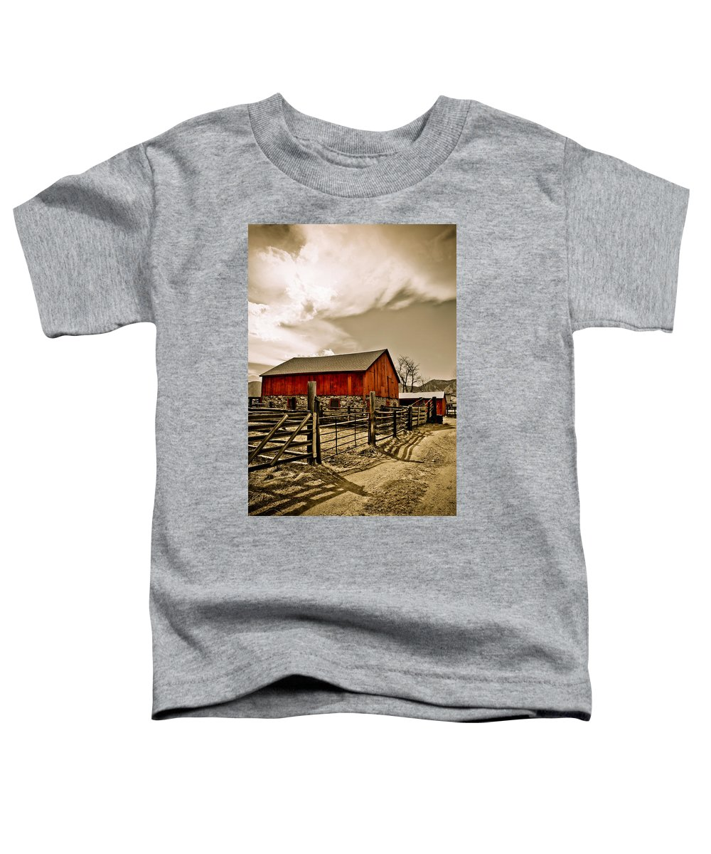 Americana Toddler T-Shirt featuring the photograph Old Country Farm by Marilyn Hunt