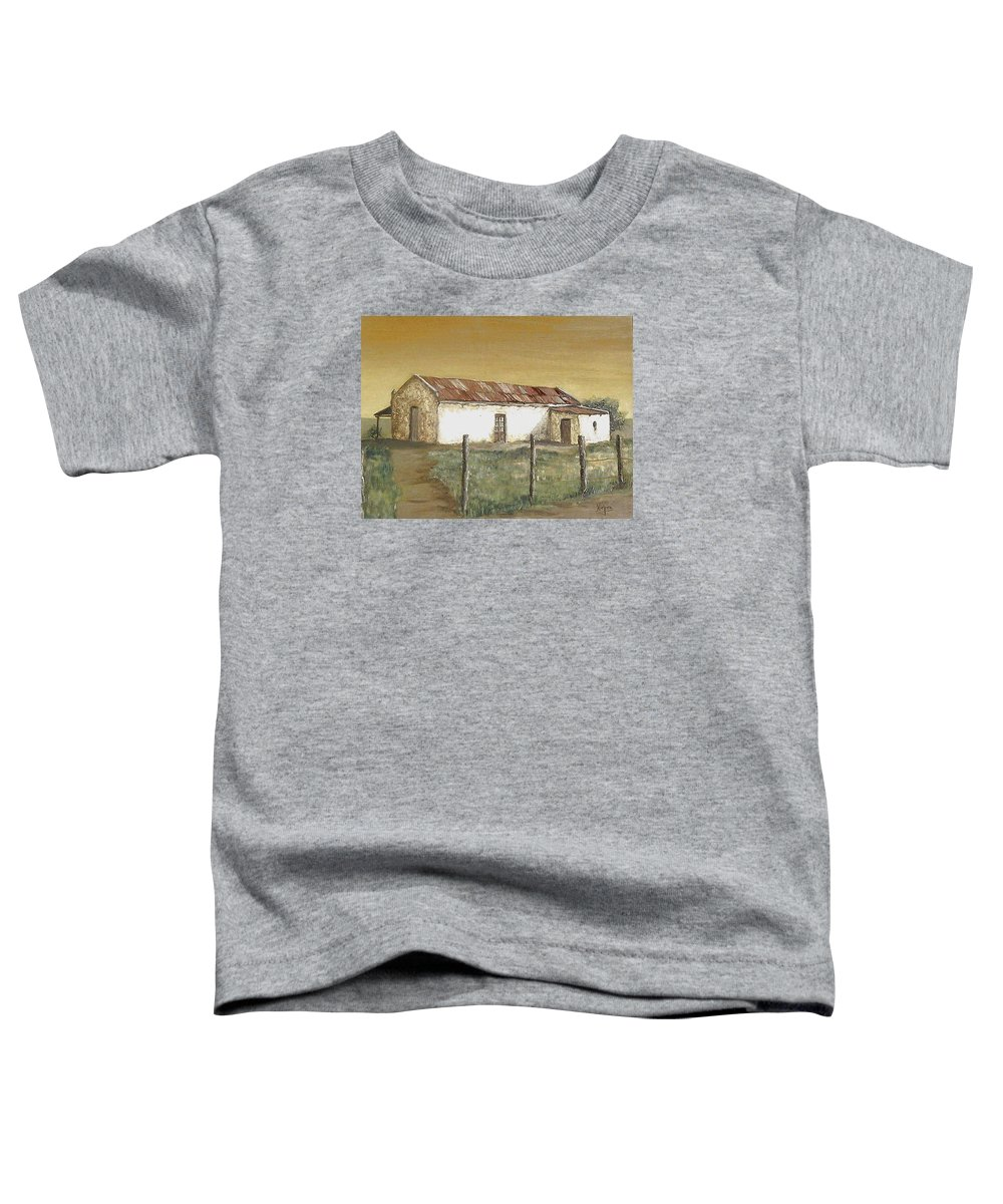 Old House Landscape Country Toddler T-Shirt featuring the painting Old House by Natalia Tejera