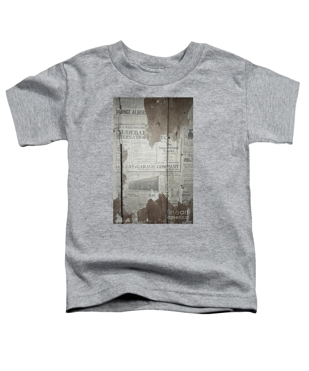 Newspapers Toddler T-Shirt featuring the photograph Old News by Richard Rizzo