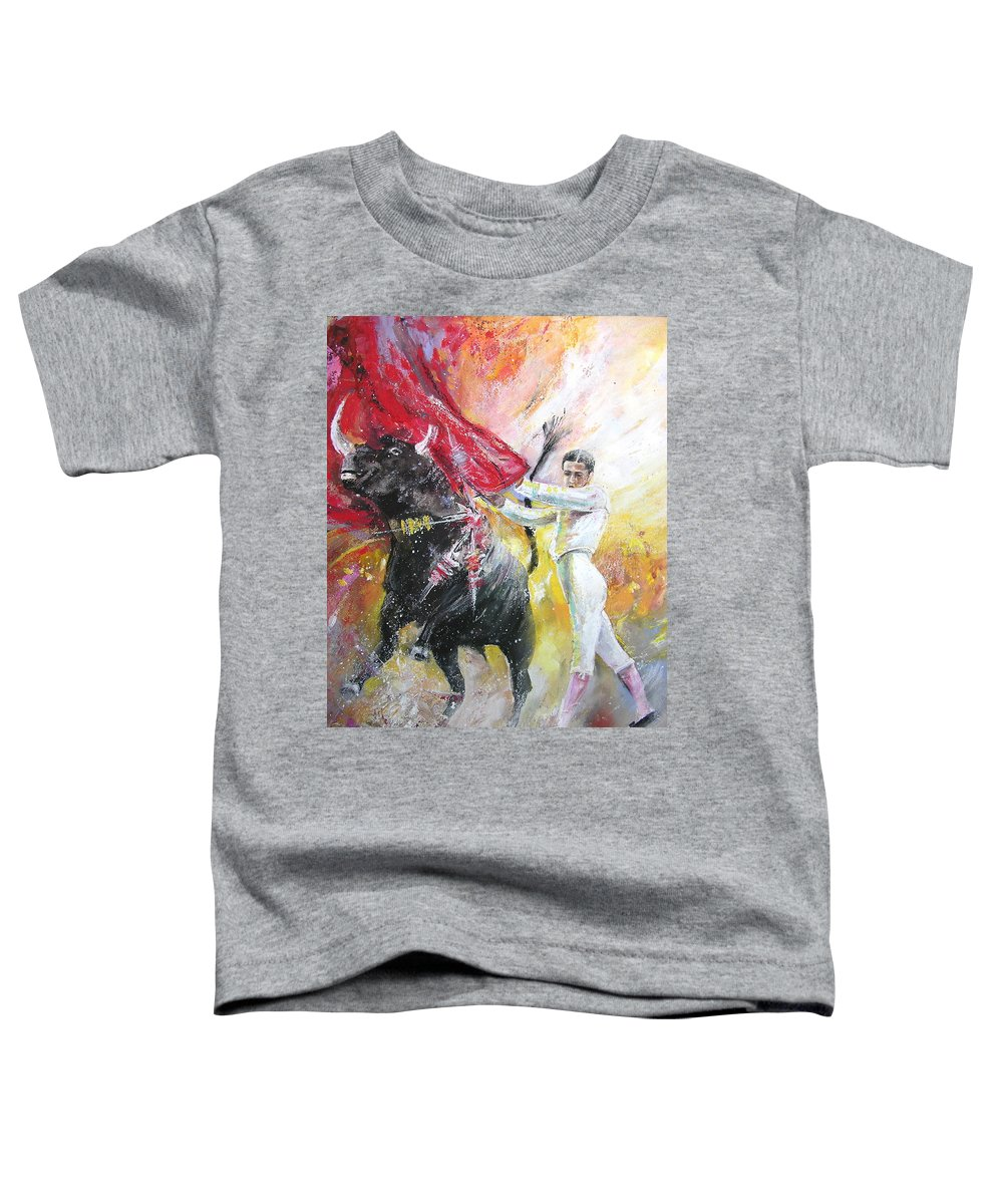 Animals Toddler T-Shirt featuring the painting Ole by Miki De Goodaboom