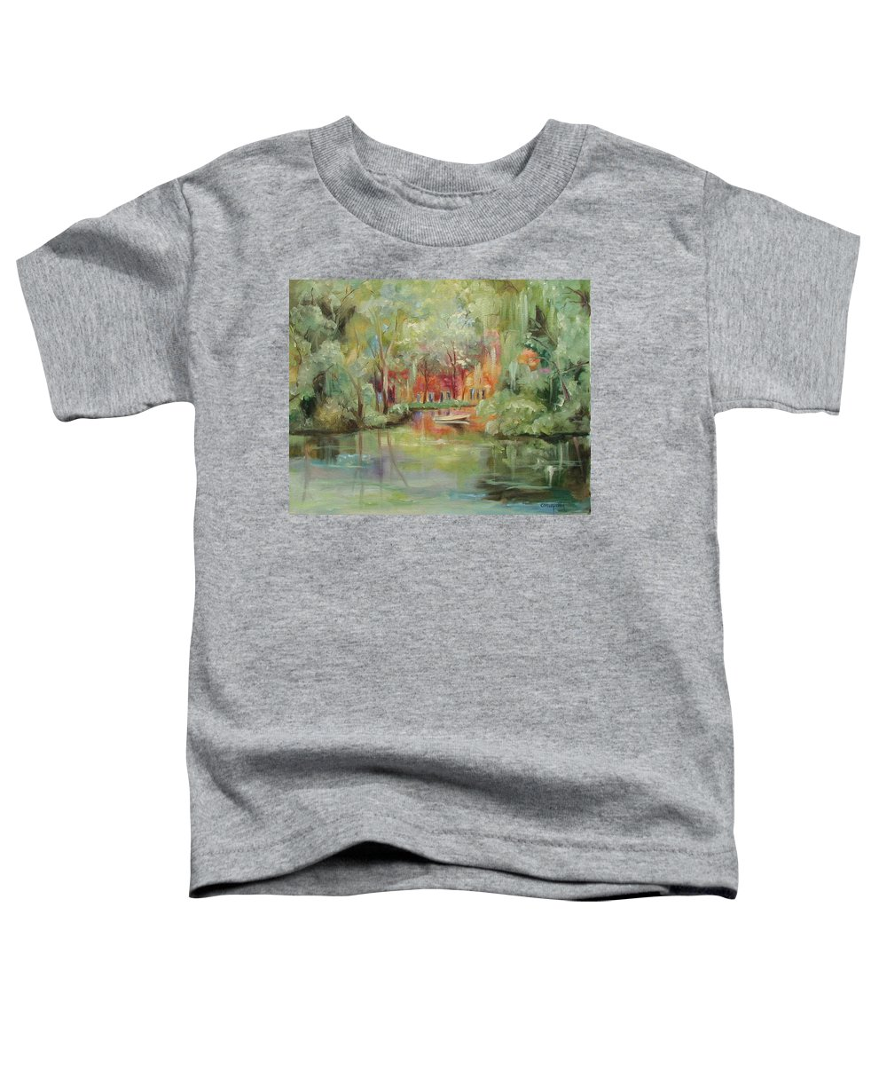 Bayou Toddler T-Shirt featuring the painting On A Bayou by Ginger Concepcion