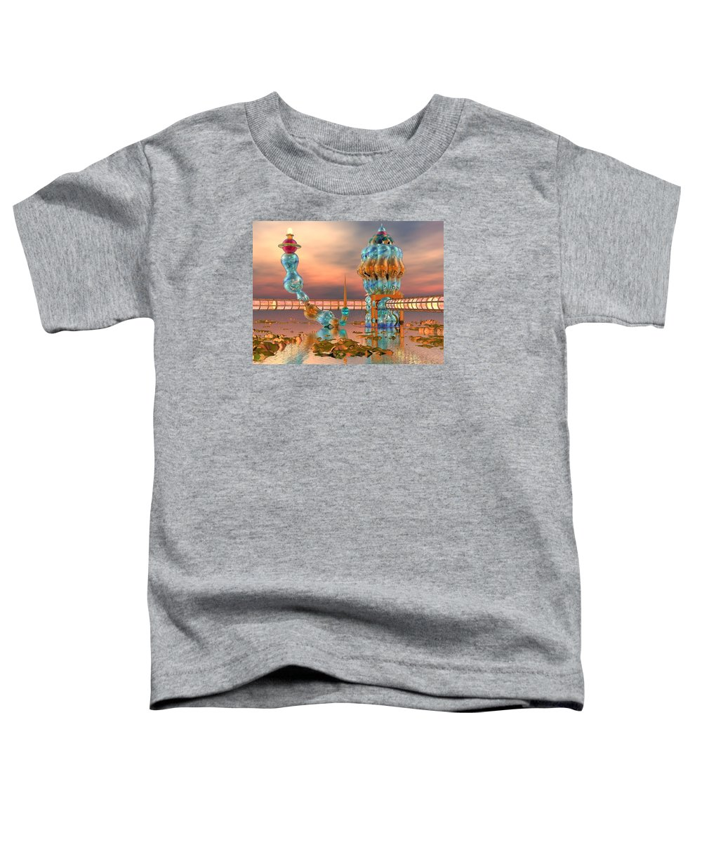 Landscape Toddler T-Shirt featuring the digital art On Vacation by Dave Martsolf