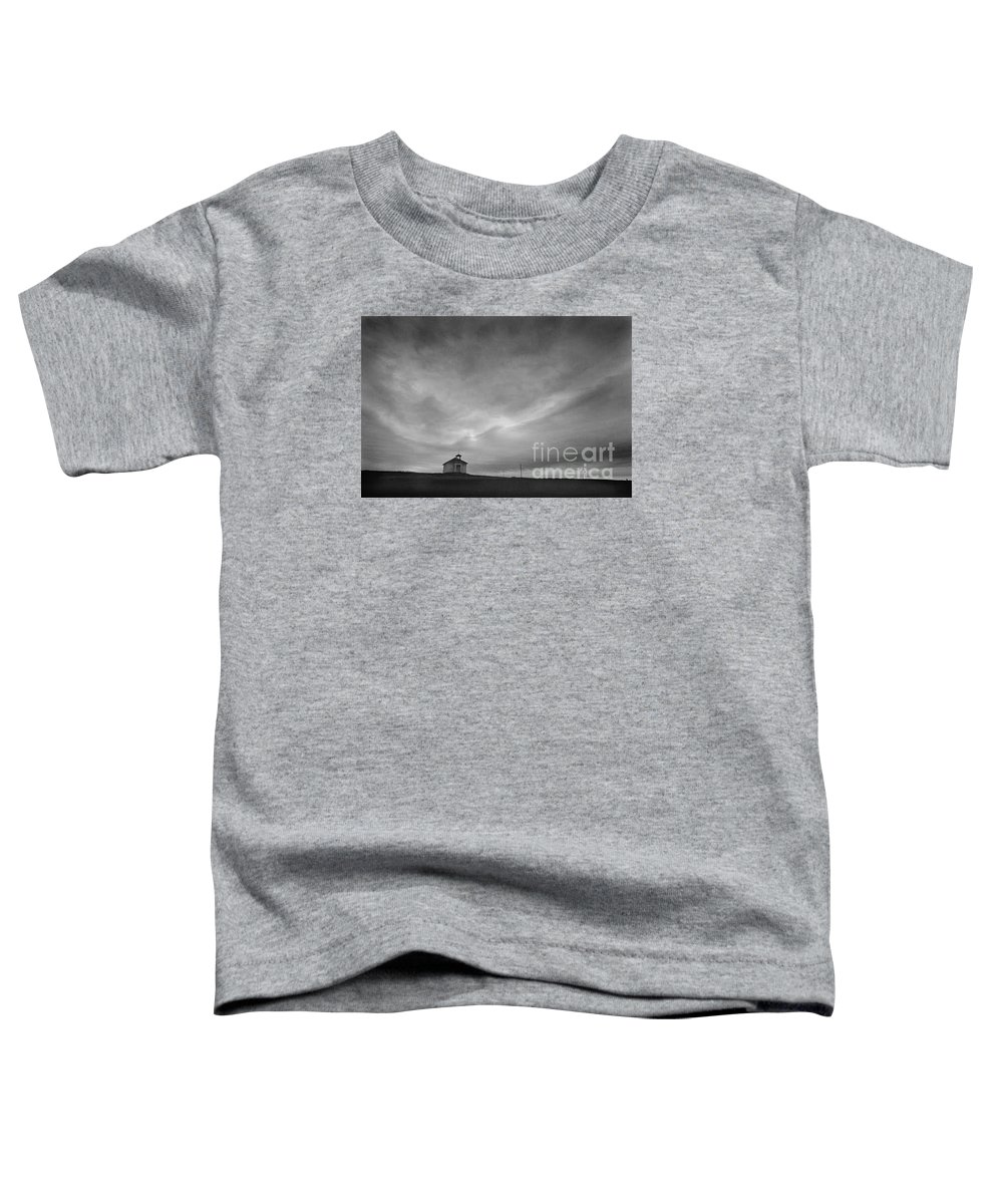 Landscape Toddler T-Shirt featuring the photograph One Room Schoolhouse by Michael Ziegler