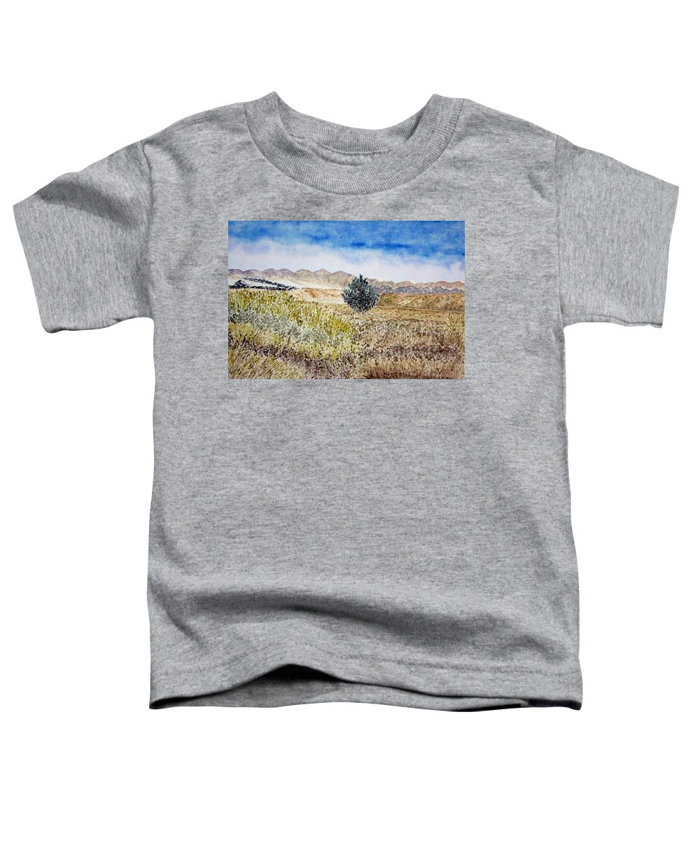 Desert Art Toddler T-Shirt featuring the painting Onyo National Forest by Larry Wright