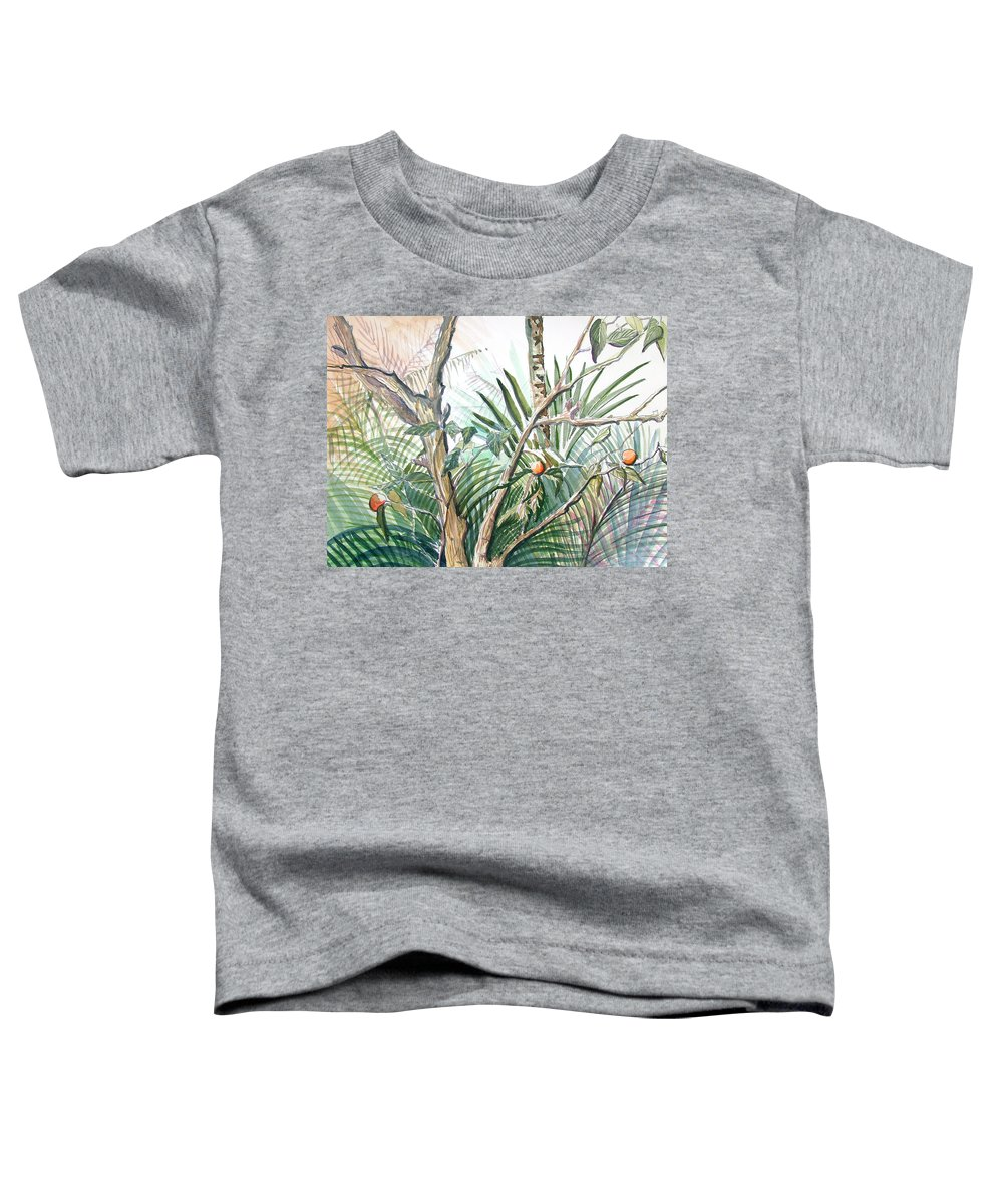 Fruit Toddler T-Shirt featuring the painting Orange Tree by Mindy Newman