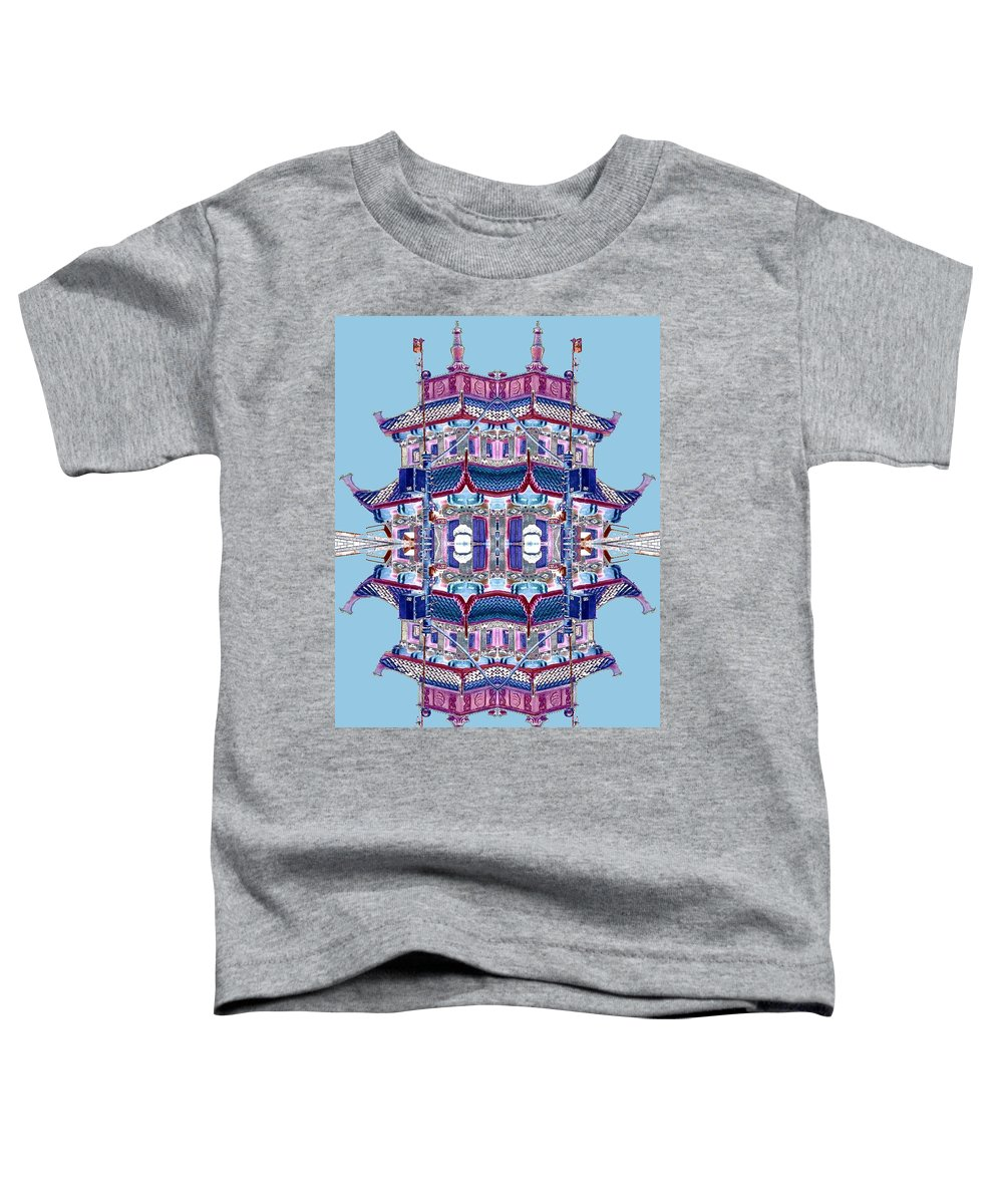 China Town Toddler T-Shirt featuring the photograph Pagoda Tower Becomes Chinese Lantern 2 Chinatown Chicago by Marianne Dow