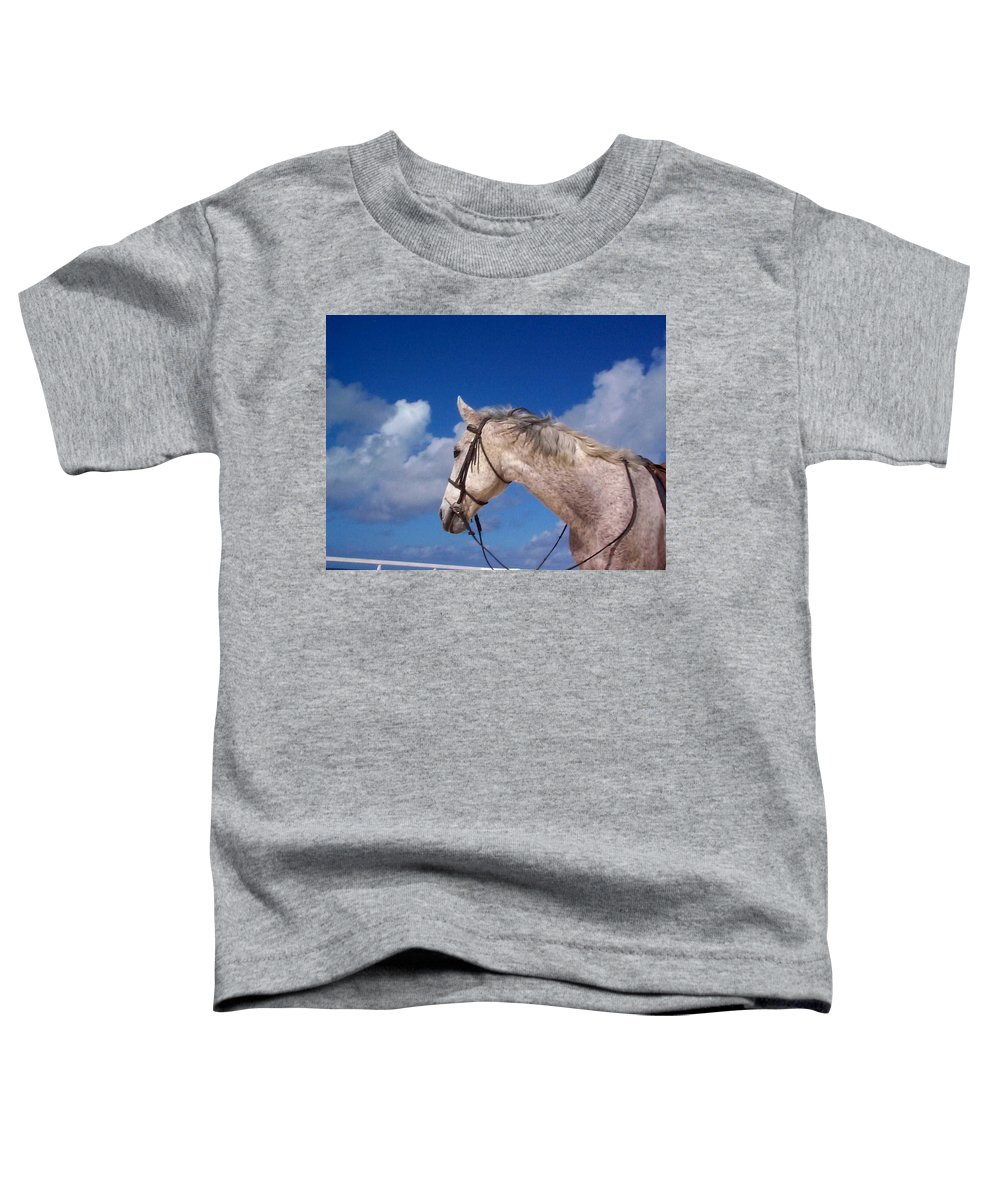 Charity Toddler T-Shirt featuring the photograph Pancho by Mary-Lee Sanders