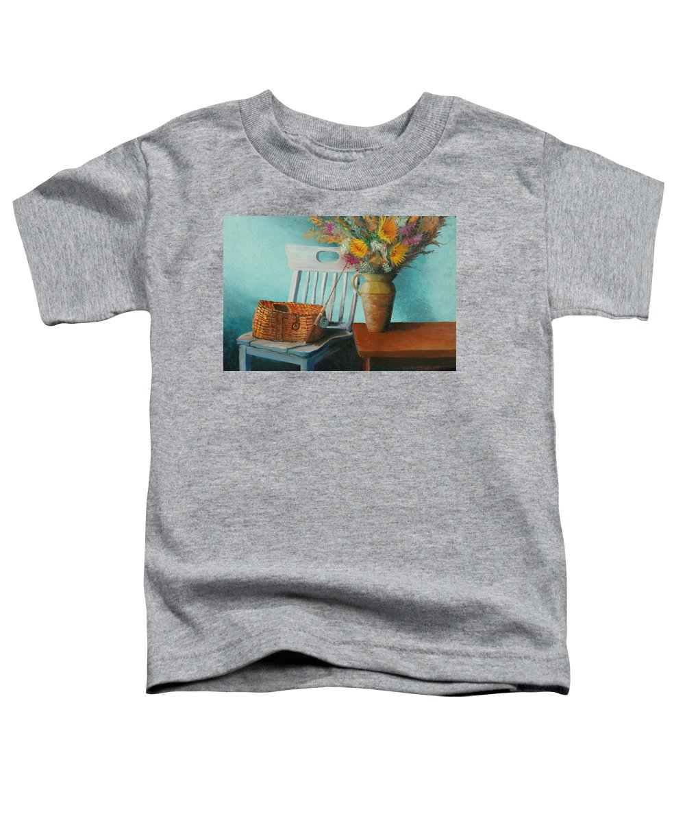 Floral Toddler T-Shirt featuring the painting Papa's Pole by Jerry McElroy