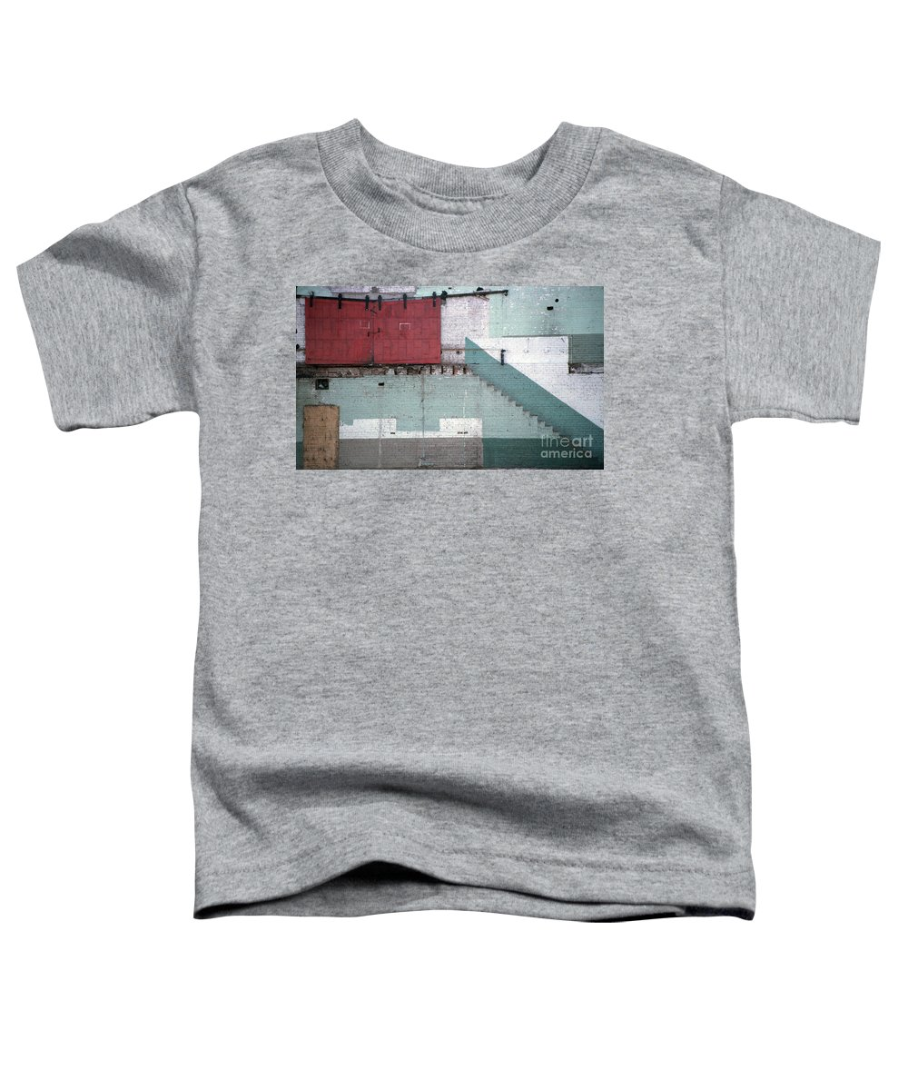Abstract Toddler T-Shirt featuring the photograph Partial Demolition by Richard Rizzo