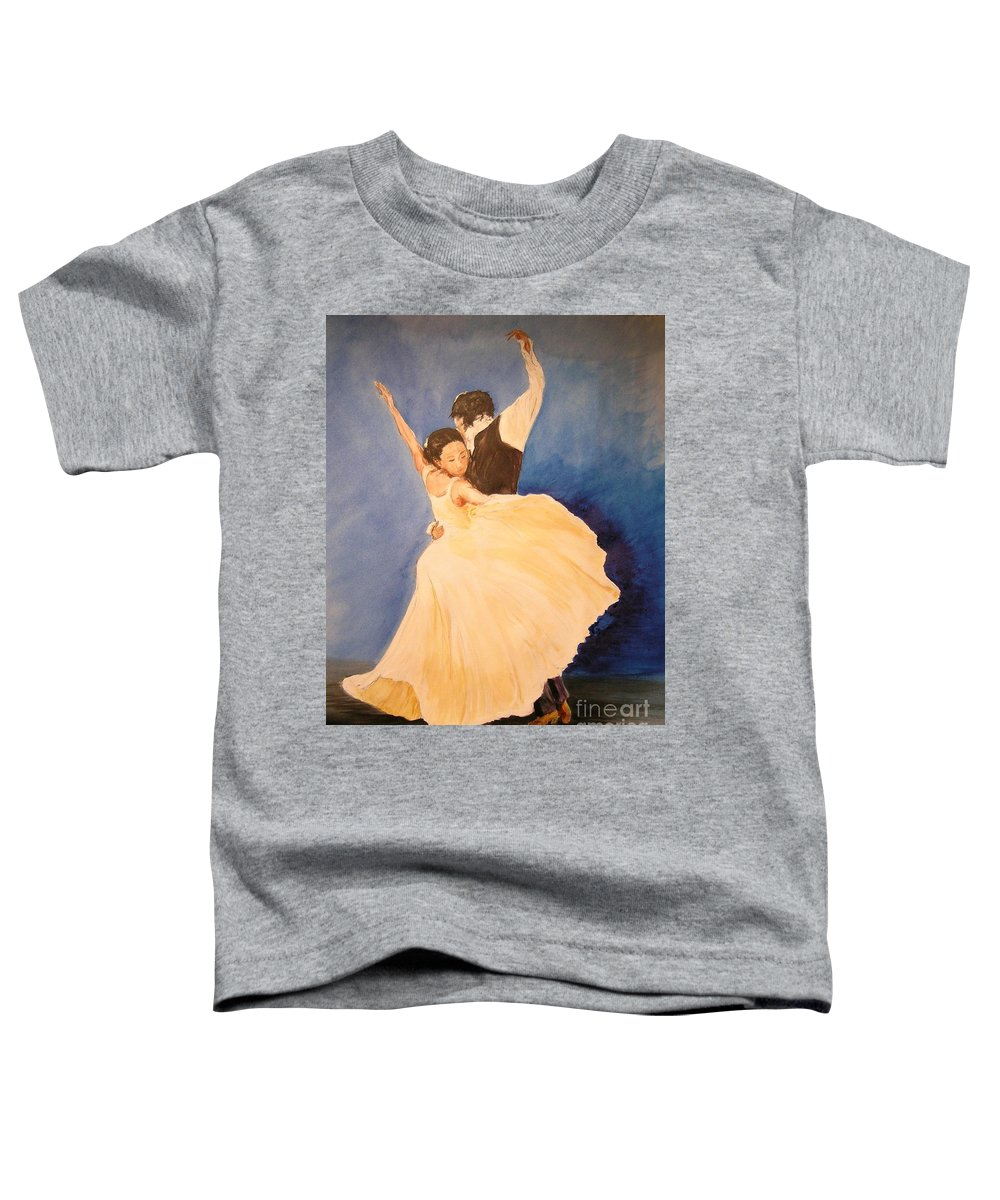 Spain Toddler T-Shirt featuring the painting Pasion Gitana by Lizzy Forrester