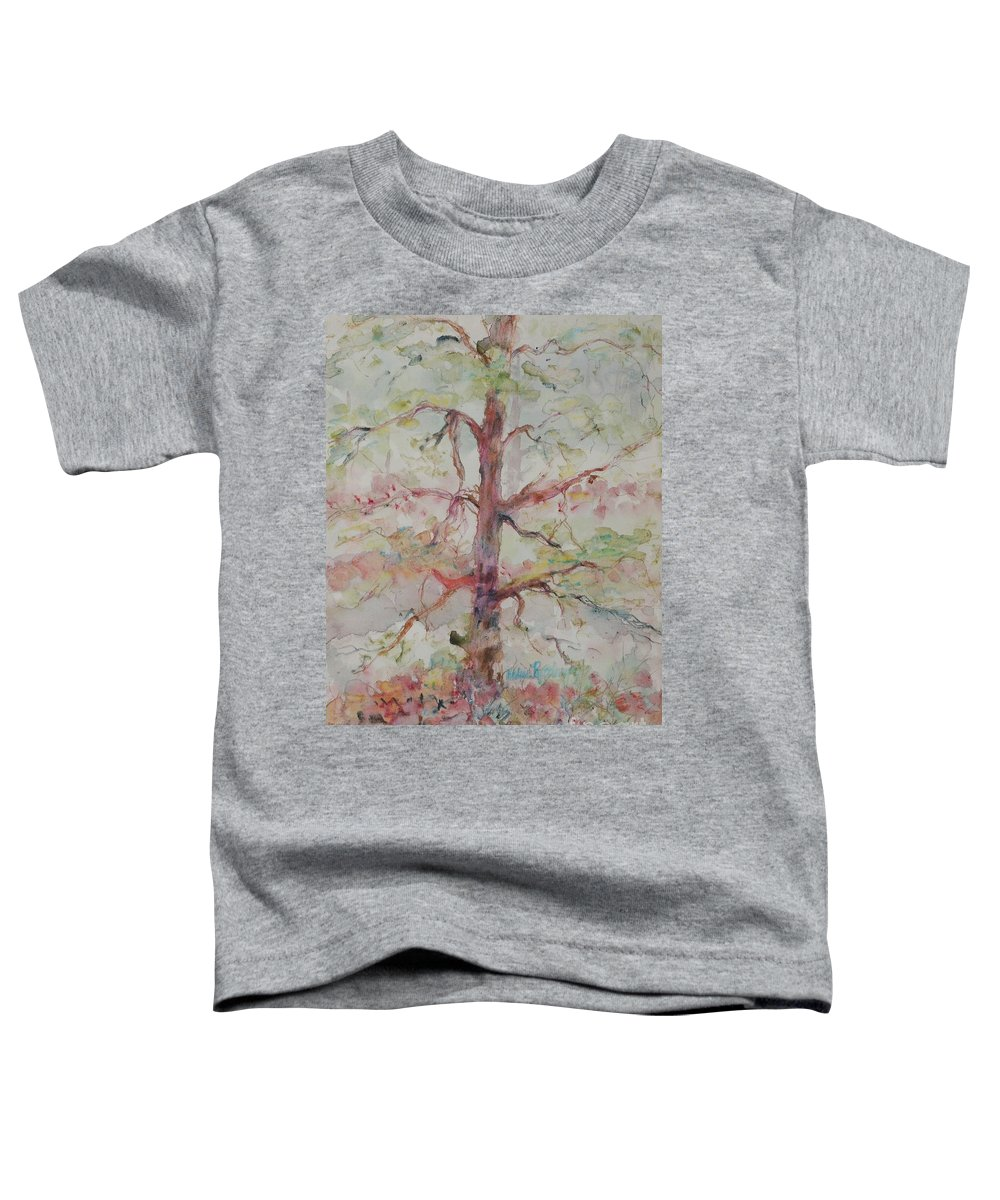 Forest Toddler T-Shirt featuring the painting Pastel Forest by Nadine Rippelmeyer