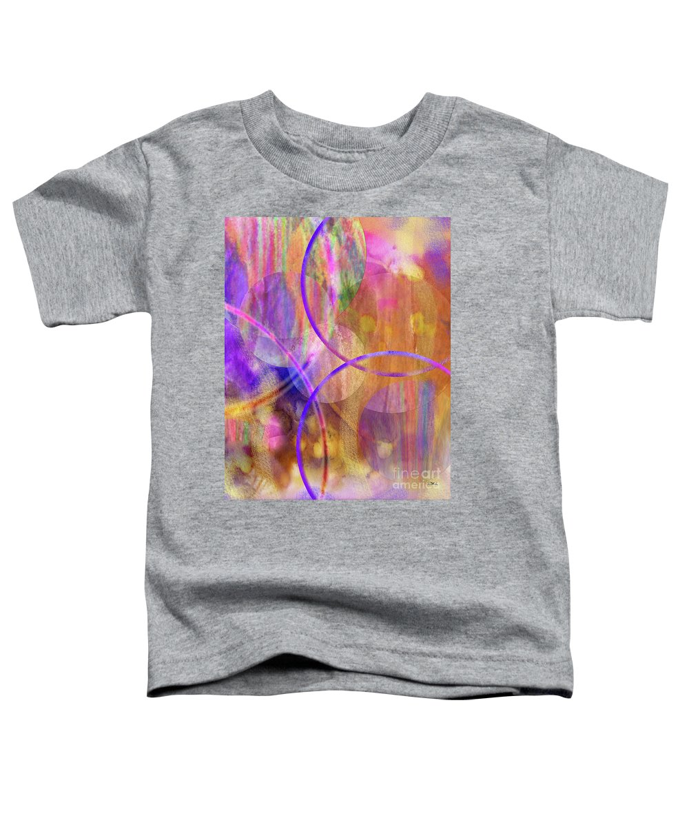 Pastel Planets Toddler T-Shirt featuring the digital art Pastel Planets by John Beck